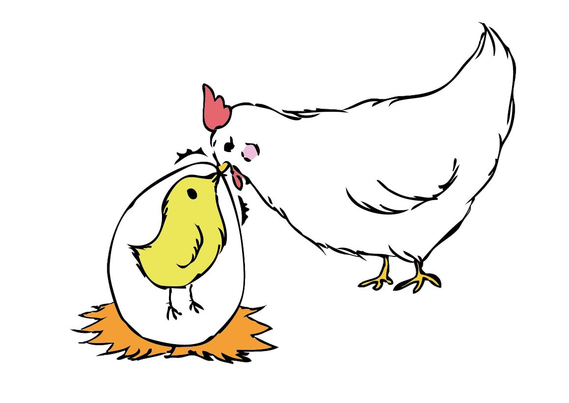 「啐啄同時」 禅宗の言葉で「啐」とは卵が孵化しようとするときに殻の中で雛が鳴くこと。 「啄」は子が自ら生まれようとするのを助けて母鳥が外から殻を突くこと。 親と子が互いに機を得て相応じるという意味です。
